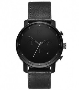 Reloj MVMT MC02-BLBL BLACK LEATHER para hombre.