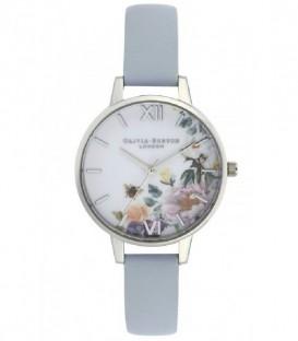 Reloj Olivia Burton OB16EG114 con correa en piel y esfera de detalles florales.