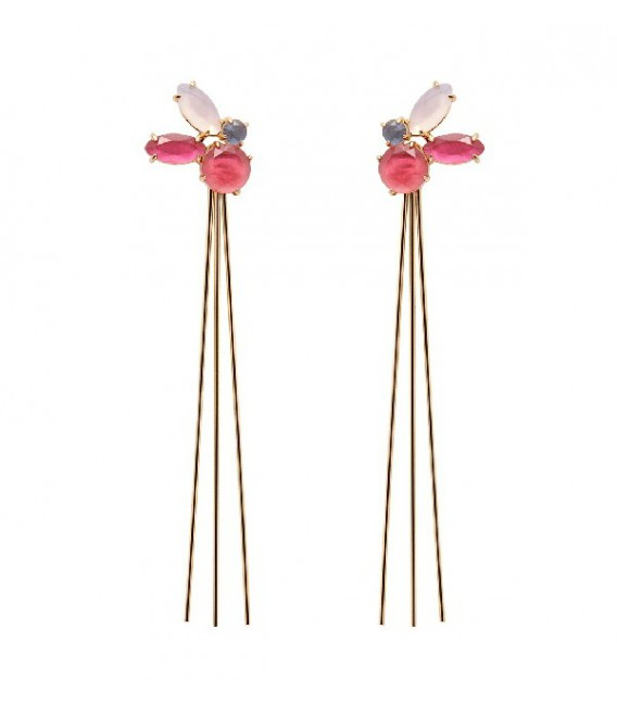 Pendientes PDPaola Blueberry Gold AR01-063-U