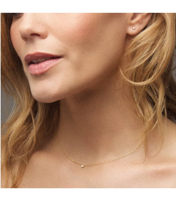Collar Soul Bask con diamante de 2 mm. COB4