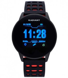 Reloj SmartWatch Radiant Brooklyn Bridge color negro y rojo RAS20103