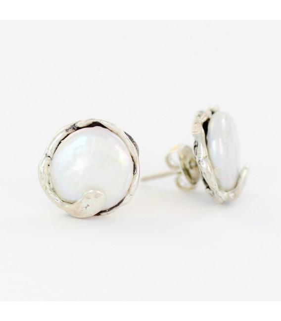 Pendientes artesanal con perlas barrocas 0848